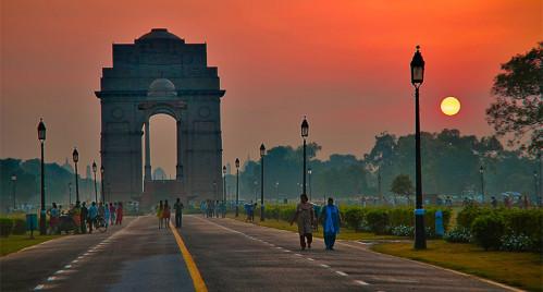 Delhi sunset