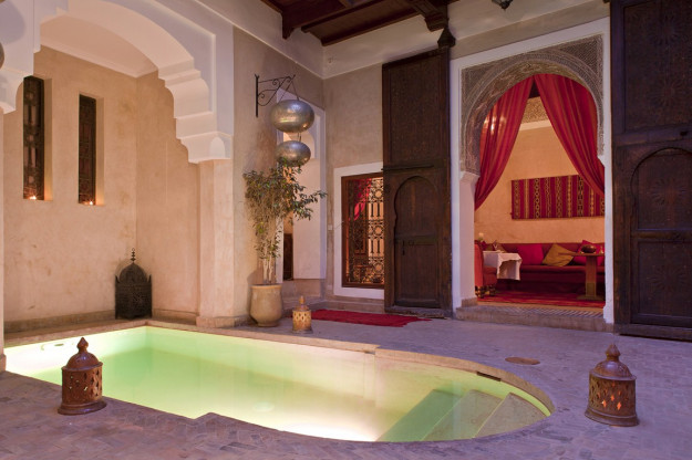 Pool in the Marrakech medina