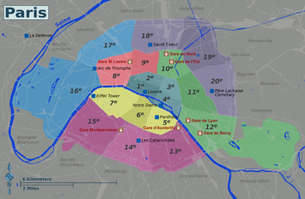Paris Neighbourhood Map