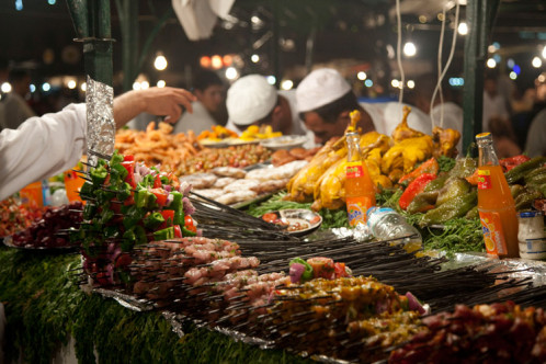 marrakech food stall