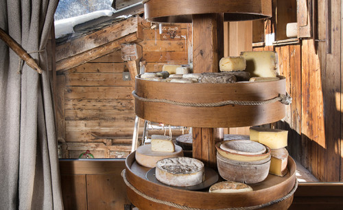 Cheeses at La Bouitte